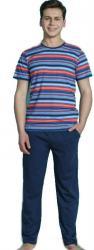 Pánske modré pyžamo Vienetta Secret Hugo
