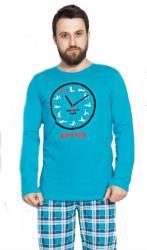 Pánske pyžamo dlhé Vienetta Secret Kamasutra clock