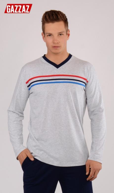 94bfc9e096e5 Otázky k produktu Pánske pyžamo dlhé Vienetta Secret Pruhy ...