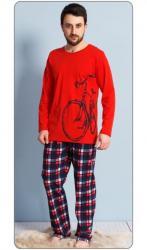 Pánske pyžamo dlhé Vienetta Secret Veľké koleso