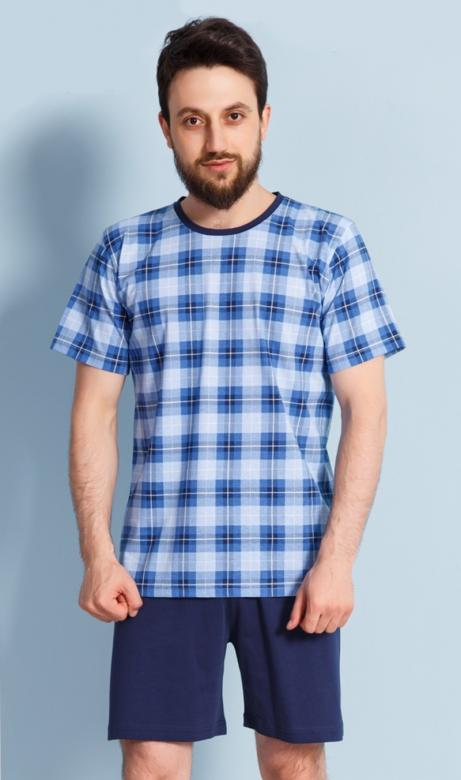 633351c9282d Pánske pyžamo šortky Vienetta Secret Jan modré - Vienetta Secret ...