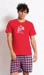 Pánske pyžamo šortky Vienetta Secret Opice s popcornom