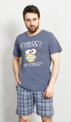 Pánské pyžamo šortky Vienetta Secret Stress