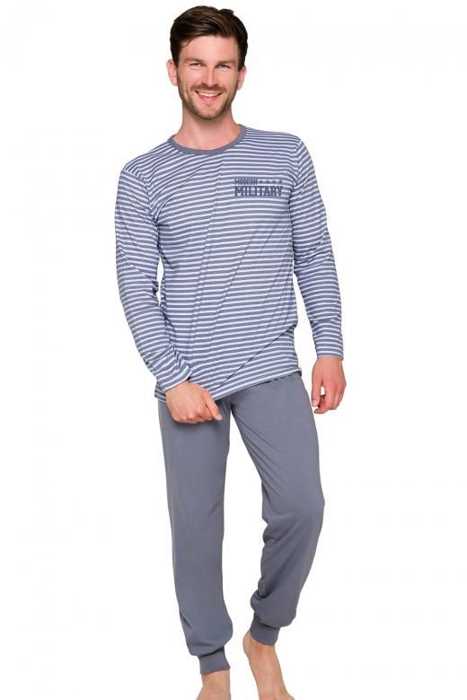 5d8d6fd51457 Pánske pyžamo Taro Max 372 grey - TARO (Pánske pyžamá