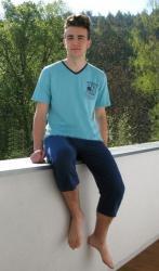 Pánske pyžamo Vienetta Secret Americký futbal kapri