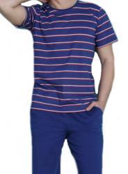 Pánske pyžamo Vienetta Secret Luboš modré