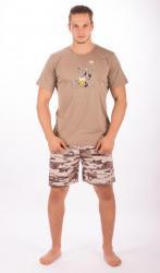 Pánske šortkové pyžamo Vienetta Secret Pes s pivom