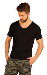 Pánske tričko s krátkym rukávom Litex 51237 čierne