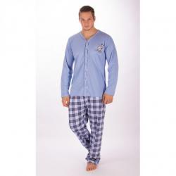 Pánske zapínacie pyžamo Vienetta Secret Richard