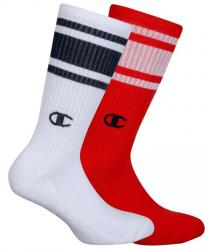 Ponožky Unisex Champion 8SU 2PACK biela/červená