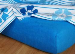 Posteľné froté plachta INTERIMEX modrej
