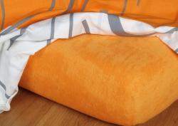 Posteľné froté plachta INTERIMEX pomaranč