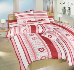 Posteľné obliečky bavlna - Jarná romance terakota - 140x200 + 70x90