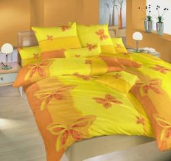 Posteľné obliečky krep Motýľ žltý-140x200 + 70x90