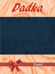 Prestieradl� frot� - tmavo modr� - 160-180x200