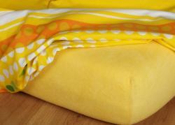 Prestieradlá froté - tmavo žltá - 200x220