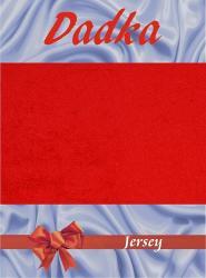 Prestieradlá jersey - červená - 200x220