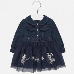 Riflové, dívčí šaty 2925