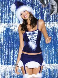 Vianočný kostým Obsessive Snowflake corset